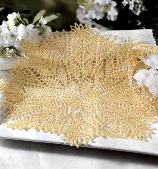 Esquema tapete crochet pequeño tipo estrella