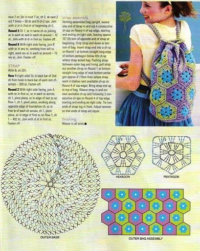 Mochila crochet para niñas1