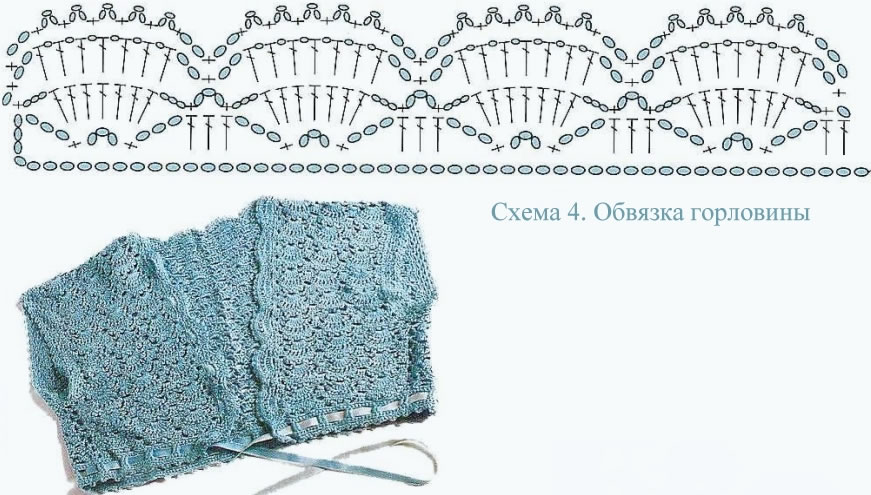Patrón Bolero de crochet en una pieza3