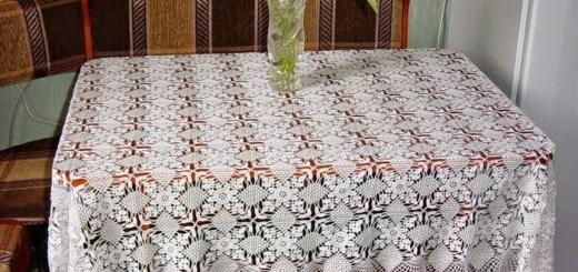 Patrón Mantel de crochet con grany