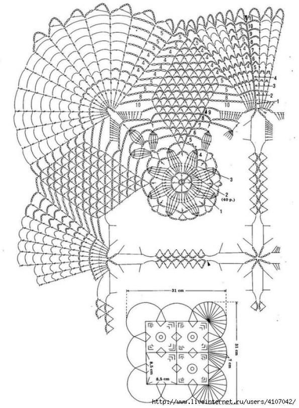 Patrón Mantel de crochet con grany1