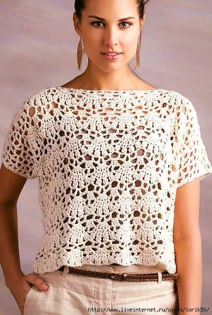 Patrón blusa crochet sencilla