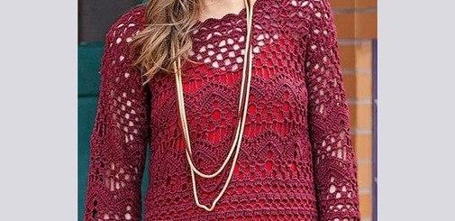 Patrón blusa crochet tipo túnica
