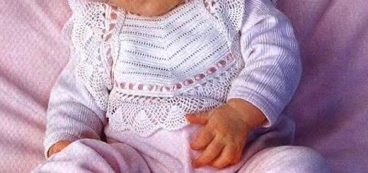 Pechera de bebé en crochet