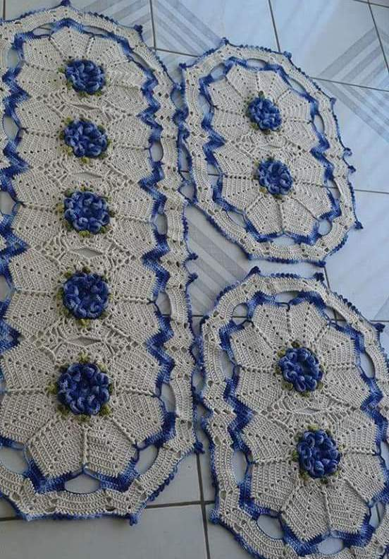 Tapete Crochet Flor Camelia