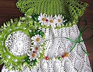 Vestido crochet de bebé patrón