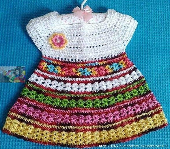 Vestido niña ganchillo canesú