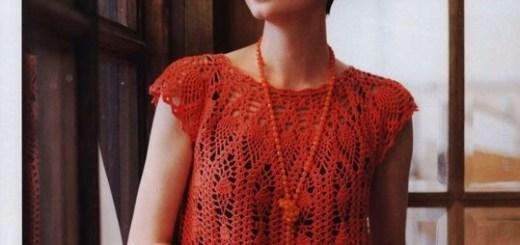 Blusa crochet piña con patrones