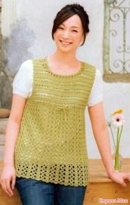 Blusa crochet recortada con patrones