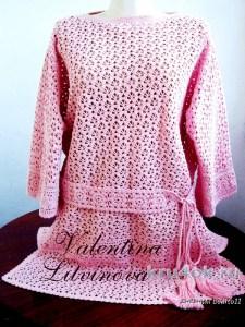 Blusa en crochet de Valentina Litvinova