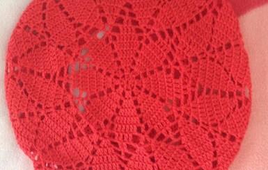 Boina niña en crochet con esquema