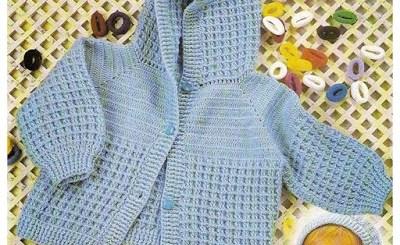 Campera crochet bebe con patrón