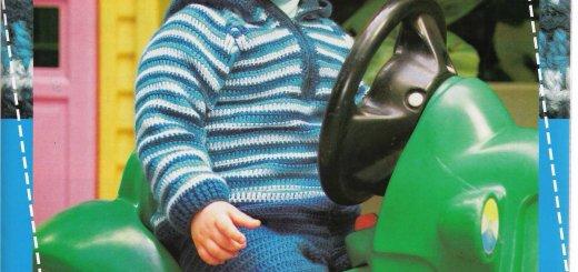 Chaleco crochet bebe con patrones