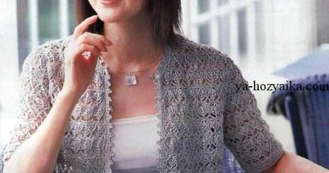 Chaqueta en crochet de lujo con esquemas