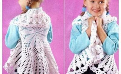 Crochet bolero niña con patrón