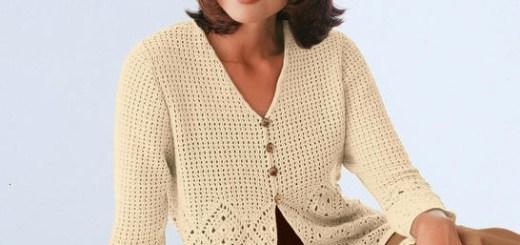 Fino chaleco crochet con mangas patrones