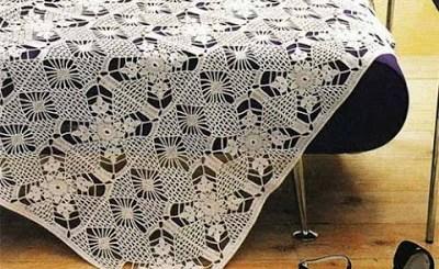 Manta tejida al crochet patrones
