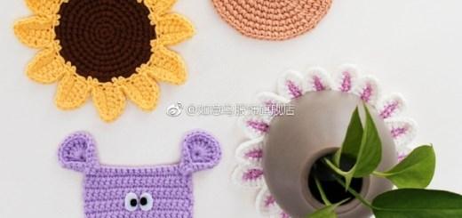 Posavasos crochet novedosas figuras