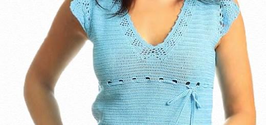 Sencilla y fina blusa en crochet esquemas