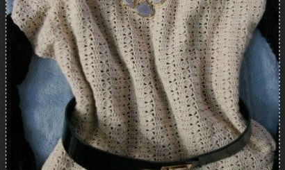 Blusa de crochet diseño novedoso