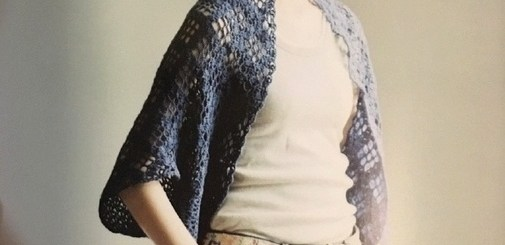 Chaleco crochet tipo capa