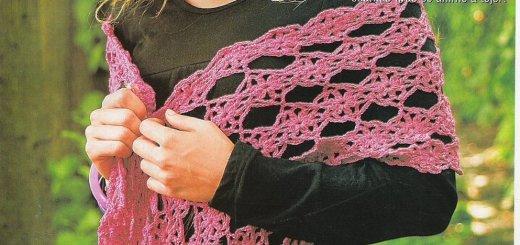 Hermoso chal crochet con flores patrones