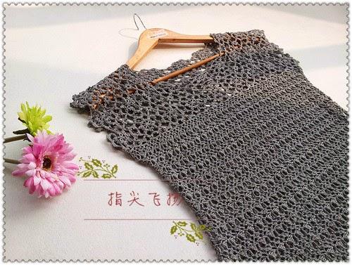 Top en crochet esquemas