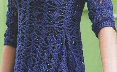 Blusa crochet calada
