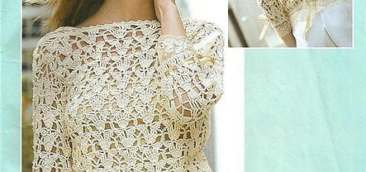Blusa crochet estilo romántico