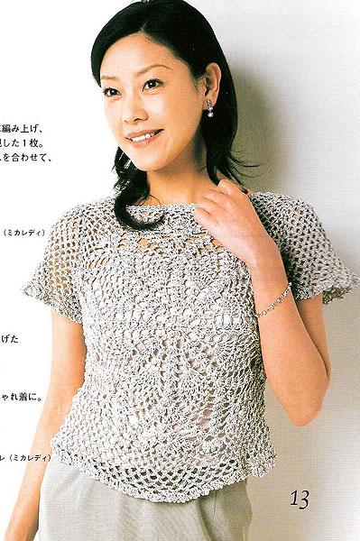 Blusas de crochet para verano