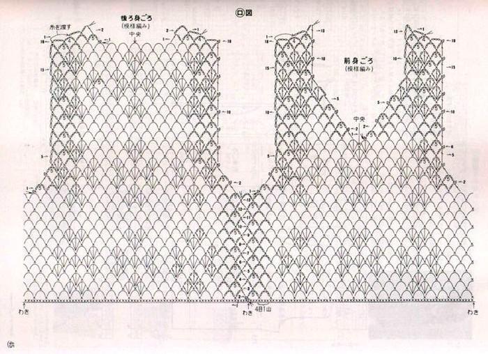 Blusas tejidas a crochet japonesas ➤ CROCHET MIL ➤ Crochet Patrones