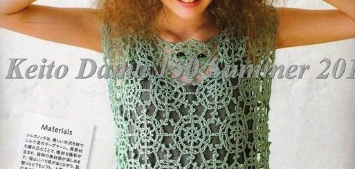 Blusas tejidas con patrones