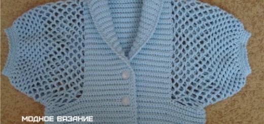 Boleros a crochet para niña