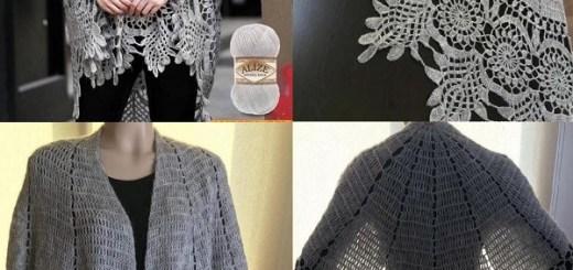 Borde crochet capa