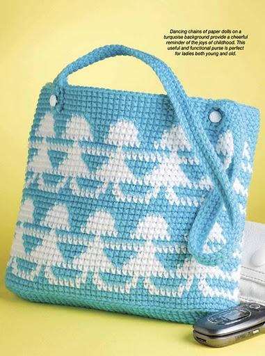 Carteras de niña tejidas a crochet