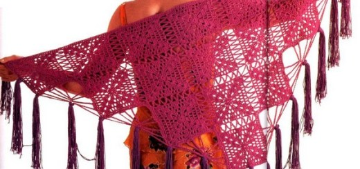 Chal crochet triangular