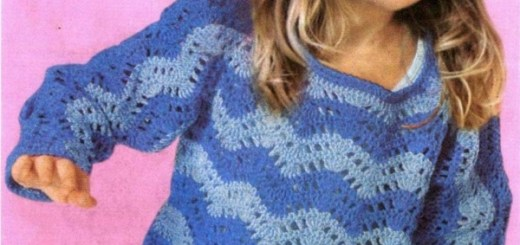 Chaleco crochet niña 4 años