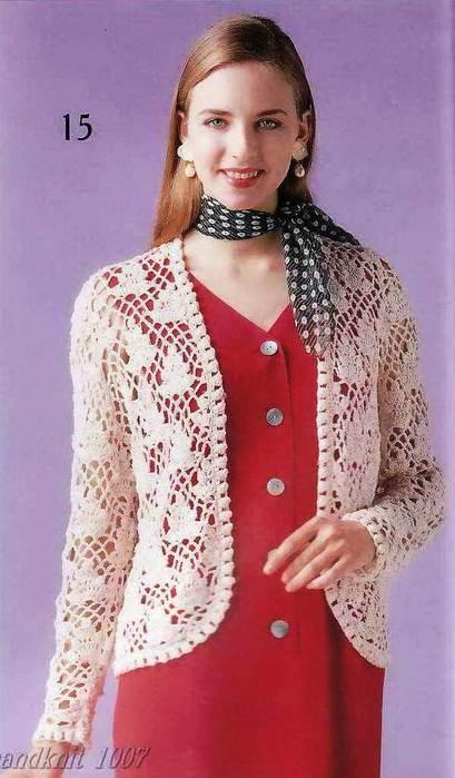 Chaleco hilo crochet