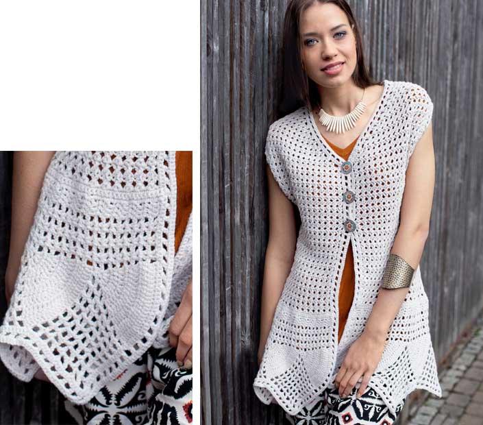 Chalecos de verano a crochet
