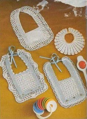 Crochet baberos fáciles
