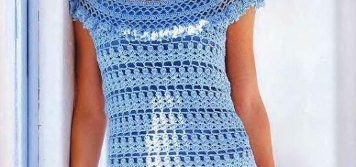 Crochet blusa con canesu