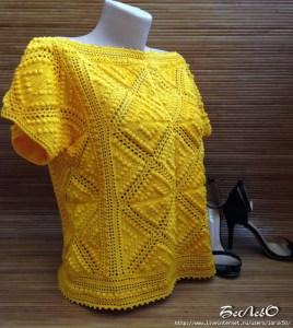 Crochet blusa granny