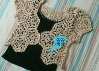 Crochet bolero damas