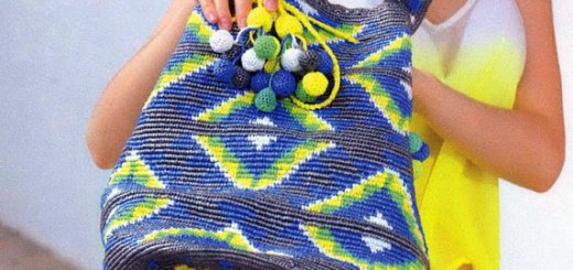 Crochet bolso trapesky