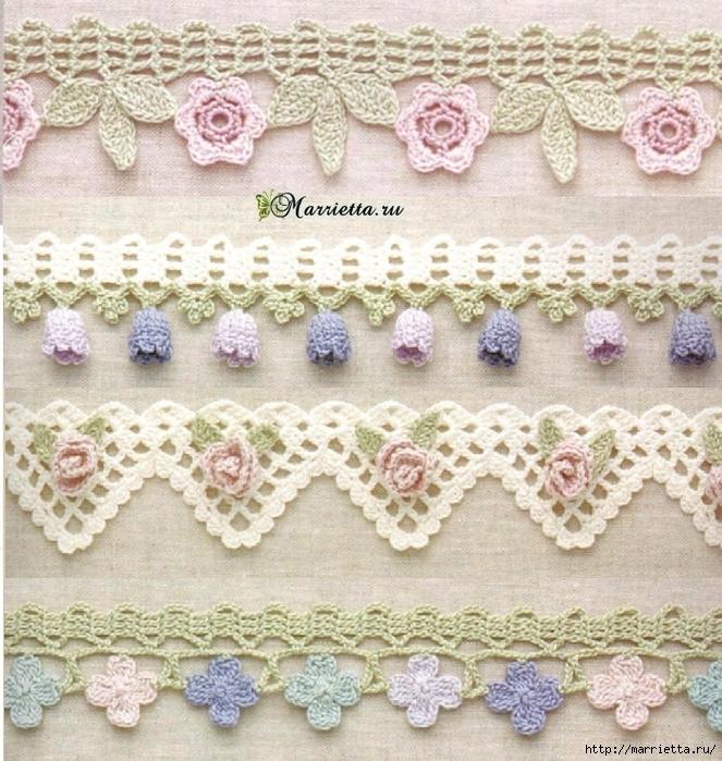 Crochet bordes esquemas DISFRUTE ➤⭐ ➤ Crochet Patrones