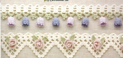 Crochet bordes esquemas