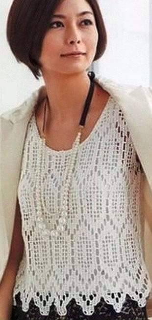 Crochet polera elegante