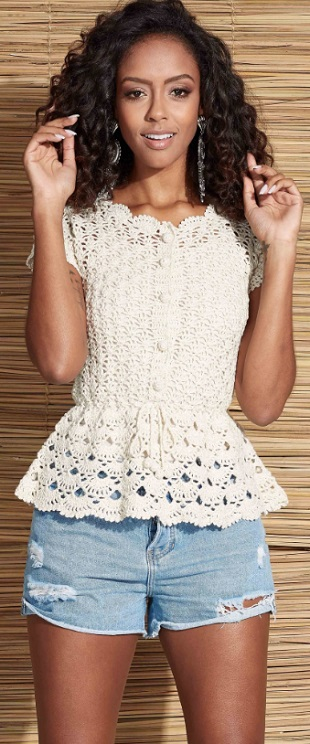 Crochet polera juvenil