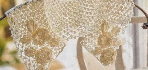 Cuello crochet elegante
