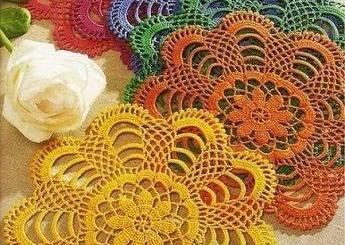 Esquema Posavasos crochet